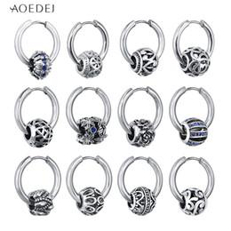 0d528a4eb AOEDEJ Small Hoop Earrings Silver Color Round Hoops Earrings oorbellen  Stainless Steel for Women Men pendientes mujer
