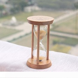 folk art wood UK - B Fashion 3 Mins Wooden Frame Sandglass Sand Glass Hourglass Time Counter Count Down Home Kitchen Timer Clock Decoration Gift