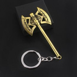 iron hammer Australia - The Hulk Axe Metal Keychain Thor Hammer Iron Man Mask Key Chain For Men Movie Fans Souvenir Jewelry