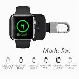 Chinese  New Wireless Charger Powerbank For iWatch Smart Watch Portable Magnetic Charger Cord Power Bank For iWatch Charging Cable with Retail Box manufacturers