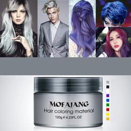 $enCountryForm.capitalKeyWord Australia - Mofajang hair wax for hair styling Mofajang Pomade Strong style restoring Pomade wax big skeleton slicked 120pcs carton box 9 colors