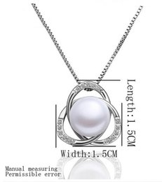 crystal triangle necklace UK - Fashion austria crystal women freshwater Pearl triangle pendant necklace earrings rings Jewelry Sets