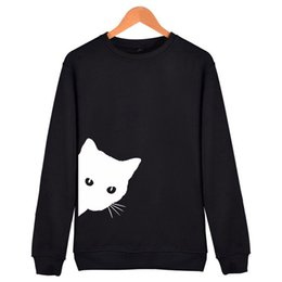 Cute Hodies Cat Looking Out Side Print Women Hody Sweatshirts Casual Spring Girl Funny Hipster Jumper Drop Ship Sudadera Mujer Women's Clothing