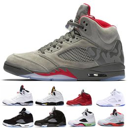 35668292c70c 5 5s Mens Basketball Shoes Blue Red Suede White Cement Space Jam Oreo OG  Metallic Black Olympic Sports Designer Sneakers Zapatos
