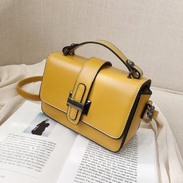 yellow purse bag Australia - Bag for Women 2020 Luxury Handbag Women Bags Designer Solid Leather Yellow White Pink Shoulder Bag Purse Sac A Main High Quality#PPI