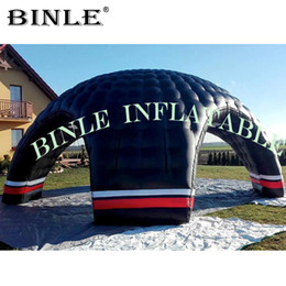 $enCountryForm.capitalKeyWord Australia - Luxury black inflatable dome tent giant inflatable igloo with 4entrances for outdoor party meeting sport events