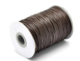 Make bracelet string online shopping - 1mm Yards Colors High Quality Waxed Cotton Cords for Wax Jewelry Making DIY Bead String Bracelet Sewing Leather Necklace Accessories