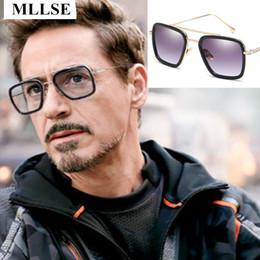 773e2df3da7b6 Male Iron Man 3 Sunglasses Tony Stark Matsuda Sunglasses Men Retro Vintage  Eyewear Square Sun Glasses Oculos Masculino Gafas de