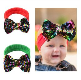 Bling Party Decorations Australia - Bling Bling 2 Colors Infant Bowknot Hairband Girl Baby Photography Props Hair Accessories Christmas Decoration Gift Headband FD3081