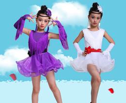 999caa9c49e6 Tassel Latin Dance Dress For Girls Children Salsa Tango Ballroom Dancing  Dress Competition Costumes Kids Practice Dance Clothing