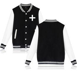 $enCountryForm.capitalKeyWord UK - XXS-4XL TXT Baseball Jacket Casual Harajuku Sweatshirt Outwear Famous Boy Band Single Sided TXT Letter Printed Streetwear Tops