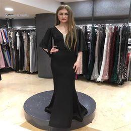 $enCountryForm.capitalKeyWord NZ - V-neck Short Sleeeves Mermaid Prom Dresses Vestidos De Festa Evening Wear In Stock Hot Sales High-end Occasion Dress