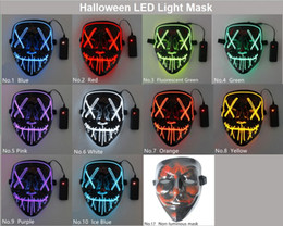 the purge mask 2021 - Hot Sale Halloween LED Light Mask Funny Mask from The Purge Election Year Great for Festival Cosplay Halloween Costume 2