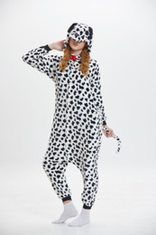 $enCountryForm.capitalKeyWord NZ - Hooded Spotted Dog Cartoon Pajamas for Adults Long Sleeves Unisex Home Wear Mascot Costumes Sleep Wear Night Party Wear Warm