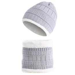 Free Knitting Kids Hats Australia - Kids winter warm Windproof hat Babies Cute Cap Baby Hats Neck warmer winter hat knit cap Christmas presents for the kids
