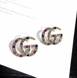 Men ear studs online shopping - Brand Designer Double Letters Earrings Ear Studs Gold Silver Tone Earring For Women Men Wedding Party Jewelry Gift