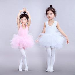$enCountryForm.capitalKeyWord Australia - children's Wear kids practice dance suit Tutu Dress ins bomb ballet skirt kids dresses Summer solid color white black pink long sleeves