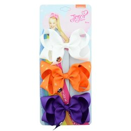 $enCountryForm.capitalKeyWord NZ - Children's Hair Decoration Set Latest Style Jojo Warped Flowers 3 Colors A Card Bowknot Hair Clip Baby Headdress Polyester Multicolor Bow