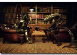 Aliens Vs Predator Figure Australia - Alien vs Predator Movie wall decor Art Silk Print Poster 88