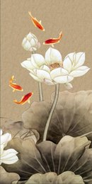 Fish Figures Australia - Gifts Hot series Modern Wall Art China's Wind Feng Shui Koi Fish Painting Picture printed On Canvas office Living Room Home Decor BFS4010