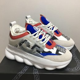 Best White Bags Australia - 2019 New mens Reactio Chain Reaction Men Women Brand Designer Shoes Best Quality Fashion Trainers Sneakers Casual shoes With Dust Bag 36-45