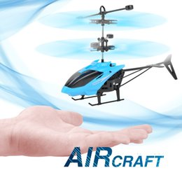 toy helicopter induction Australia - 3 Styles Sensor Aircraft Helicopter 20cm Anti-fall Suspended LED Luminous Induction Aircraft Children's Interactive Toys L493