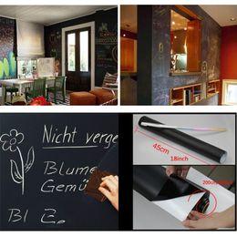 $enCountryForm.capitalKeyWord Australia - Removable Chalkboard Wall Stickers Blackboard Extra Large Decal Wall Sticker Peel and Stick Vinyl PVC With Chalks Mini Portable VT0206