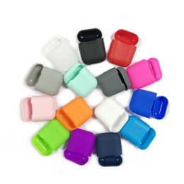 HeadpHones for water online shopping - Silicone Case for Airpods Earphone wireless headset Headphone protective sleeve cover silicon case for iphone hot sale