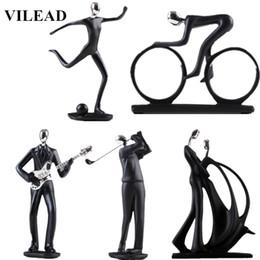 $enCountryForm.capitalKeyWord Australia - Vilead 17 Styles Resin Sports Man Figurines Football Bicycle Golf Miniatures Guitar Saxophone Music Player Model Home Deoration Y19062704