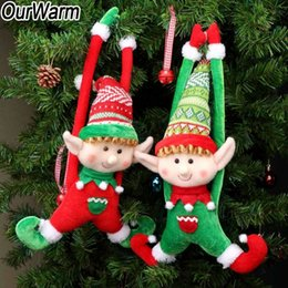 christmas elf dolls Australia - OurWarm 2pcs Long-Legged Elf Christmas Doll Gift Decoration Doll Christmas Tree Decoration Christmas Door Decoration T191029