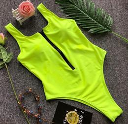 Green Swimsuits Australia - Solid Zipper Swimsuit Sexy Black green Bodysuit Female Bathing Suit Women Maio Feminino Praiabiquini One Piece Swimwear Q190525