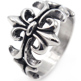 $enCountryForm.capitalKeyWord Australia - Titanium steel Hollow cross Charms Mens Jewelry Rings Designer Love Brand Men Ring Charm Fashion Designer Jewelry Men Rings