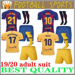 Men suit socks online shopping - Adult suit enfants de football de Barcelone Maillots Messi GRIEZMANN DE JONG SUAREZ MALCOM Coutinho Adult suit SOCKS