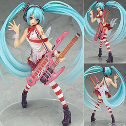 best christmas gifts for babies Australia - Guitar Hatsune Miku Japanese Figuras Anime Pvc Model Collection For Baby Girls Kids Lover Children Best Christmas birthday Gift