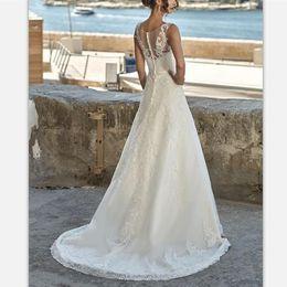 $enCountryForm.capitalKeyWord Australia - Vintage White Lace Appliques Sweep Train Boho Wedding Dresses 2019 V Neck Bridal Gowns Custom Elegant Sequins Hollow Country Wedding Gowns