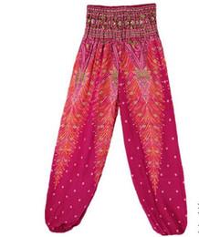 $enCountryForm.capitalKeyWord NZ - 2019 European and American Fashion Trend Thai Peacock Bohemian Lanterns Female Xia Loose Yoga Pants Length gym