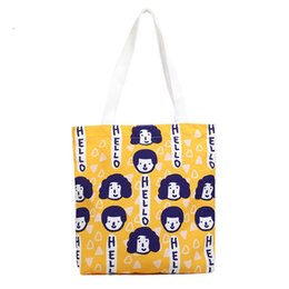 $enCountryForm.capitalKeyWord Australia - Banabanma Women Handbag Single Shoulder Bag Canvas Portable Travel Bag Cute Cartoon Girl Pattern Handbag Bags for Women 2018 Z30