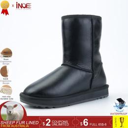 $enCountryForm.capitalKeyWord Australia - Inoe Classic Mid-calf Real Men Sheepskin Leather Sheep Wool Lined Winter Snow Boots For Men Winter Shoes Waterproof Black