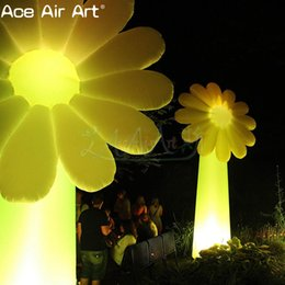$enCountryForm.capitalKeyWord Australia - Giant ground inflatable plant decoration,glowing inflatable sunflower for party,stage or event on sale