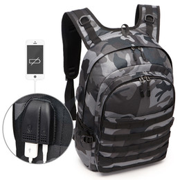 Jacks Pack Australia - Pubg Backpack Men Bag Mochila Pubg Battlefield Infantry Pack Camouflage Travel Canvas Usb Headphone Jack Back Bag Knapsack New