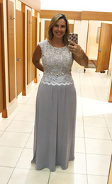1a3d93f263d8 Summer Mother Groom Dresses Australia - summer silver mother of bride  dresses jewel top Sequin Lace
