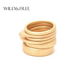 $enCountryForm.capitalKeyWord Australia - Wild & Free Hot 6pcs Vintage Gold Ring Set For Women Fashion Geometric Plain Knuckle Ring Stackable Rings Jewelry Christmas Gift