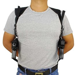 Hombro táctico doble pistola pistoleras encubrió lleva doble pistola Ejército bolsa Caza Accesorios arma de mano titular en venta