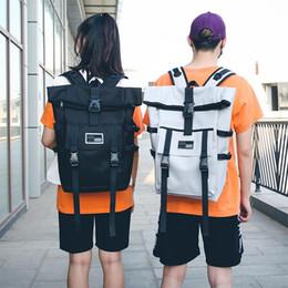 Discount man fashion school back pack - Oxford Big Capacity Women Backpacks Harajuku Large String Woman Laptop Travel Backpacks Women Men Casual Solid School Ba
