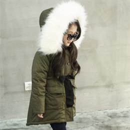 $enCountryForm.capitalKeyWord Australia - 2018 new Girls green cotton coat winter clothes cotton coat large fur collar plus velvet thickening children's jacket