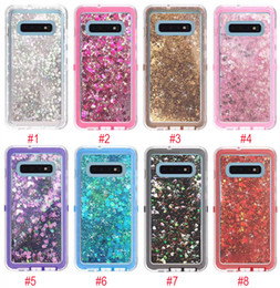Robot phone cases online shopping - For Samsung S10 Case Robot Liquid Quicksand Glitter Bling Back Cover Phone Cases for Samsung Galaxy S10 Plus