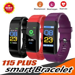 $enCountryForm.capitalKeyWord Australia - Best ID115 Plus Smart Bracelet Fitness Tracker Smart Watch Heart Rate Watchband Smart Wristband For Apple Android Cellphones with Box