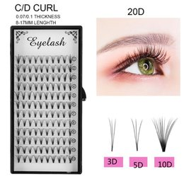 eyelash extensions graft Australia - 3D Russia Premade Volume Fans Individual Eyelashes Extension Quickly Graft Lashes Extension C D Curl 8~17mm Length