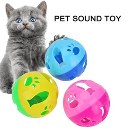 hollow sounding toys Australia - 1pc 10cm Cartoon Hollow Plastic Pet Bell Ball Toy For Cat Kitten Dog Sound Training Interactive Toy Pet Cat Products 36#