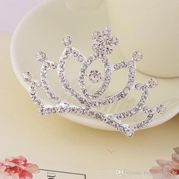 $enCountryForm.capitalKeyWord Australia - Colorful Rhinestone Kids Tiaras Crystal Crown for Girls Wedding Party Women Bride Hair Accessories Hair Comb Hairpins